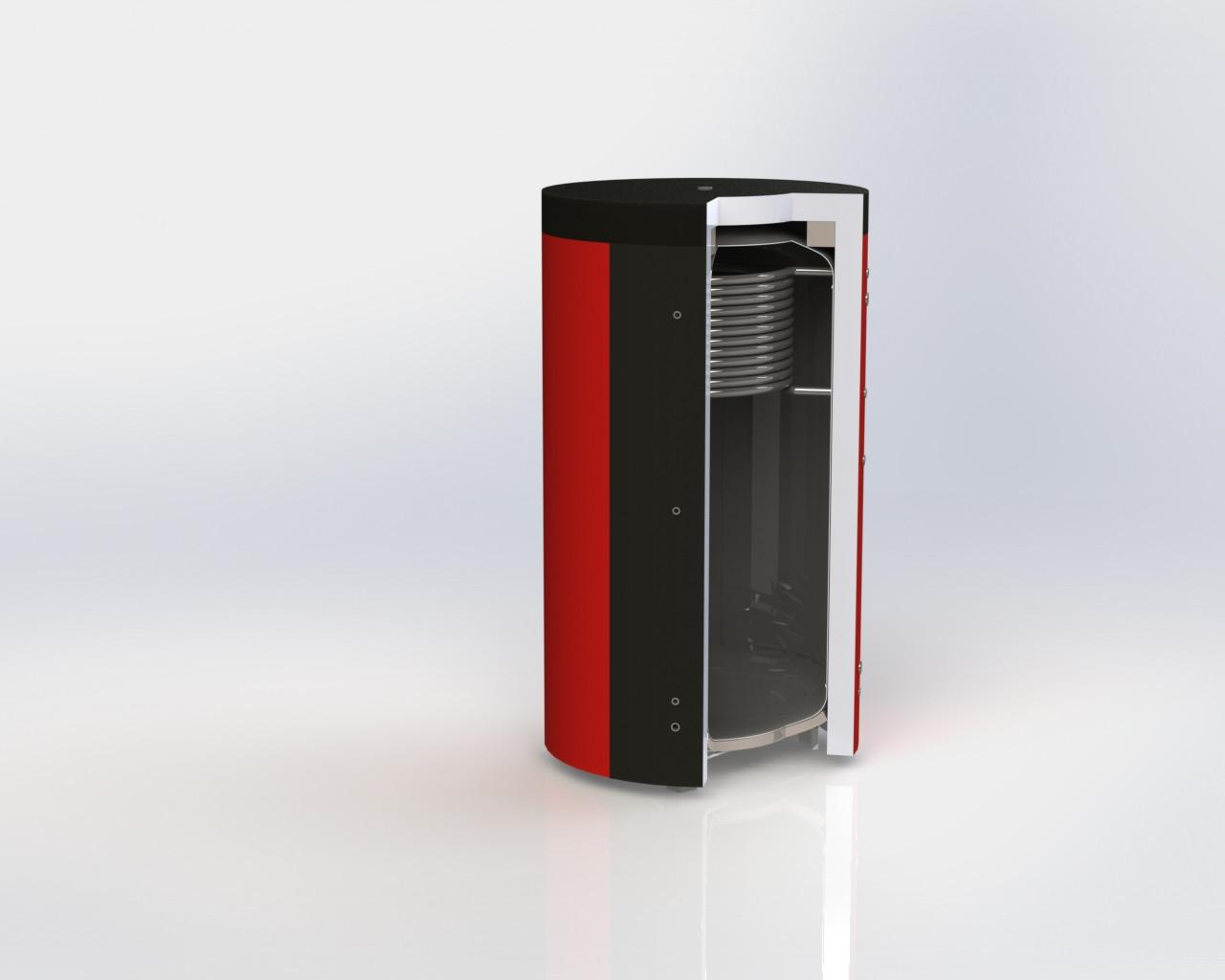 Буферная емкость ЕА-10-2000 Kuydych с верхним теплообменником