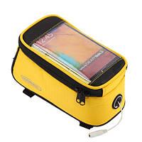 """Велосипедна сумка Roswheel на раму з прозорим відділенням під смартфон 5.5"""" з внутрішнім об'ємом 1.7 л, фото 1"""