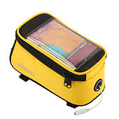 """Велосипедная сумка Roswheel на раму с прозрачным отделением под смартфон 5.5"""" с внутренним объемом 1.7 л."""
