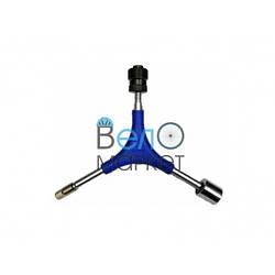 Ключ тройной 5в1 Super B шестигранники 6/8мм, торцевой 14мм, съёмник шатунов (квадрат).