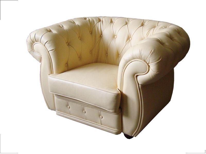 Кресло Cosmo-1S Кожа Люкс Комбинированная Бежевая (Диал ТМ)