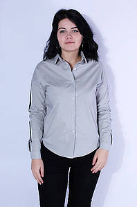 Рубашка женская cерая 3112