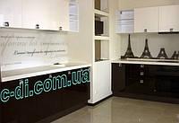 Стеклянный фартук на рабочую поверхность кухни, обшивка безопасным стеклом, фото 1