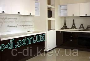 Стеклянный фартук на рабочую поверхность кухни, обшивка безопасным стеклом
