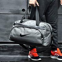 Не промокаемая сумка найк, Nike для спортазала и путешествий. Коттон. Светло-серая