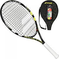 Набор для большого тенниса Babolat Nadal Junior 25 black/yellow + 3 orange balls (190002-142)