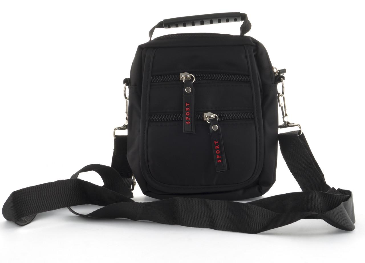 Стильная небольшая тканевая мужская сумка SPORT  art. 2387 черная