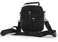 Стильная небольшая тканевая мужская сумка SPORT  art. 2387 черная, фото 1