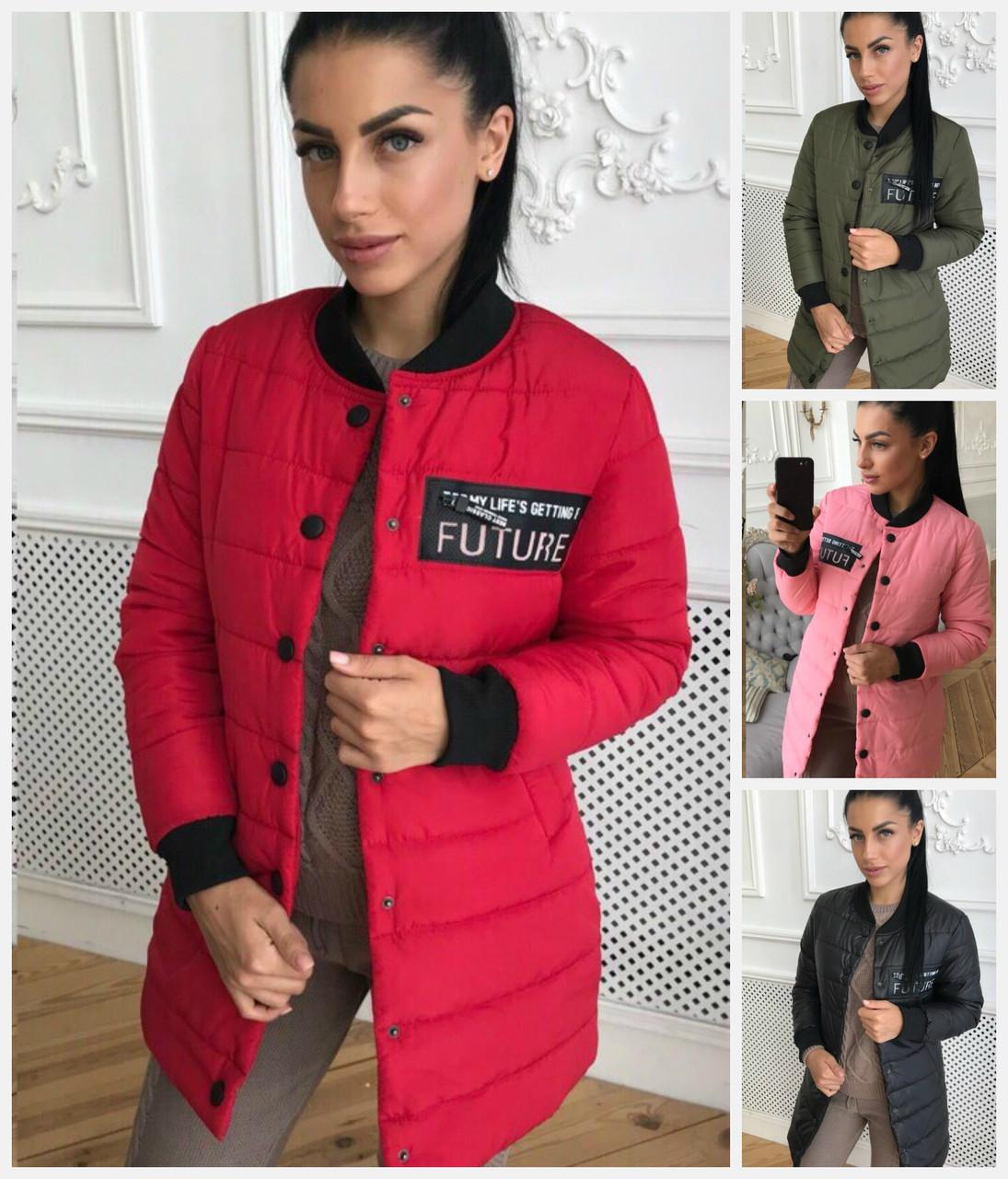 5141077ead2 Демисезонная удлиненная женская куртка 17864  продажа