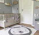 Детский игровой коврик из хлопка на пол (серый зайка), фото 3