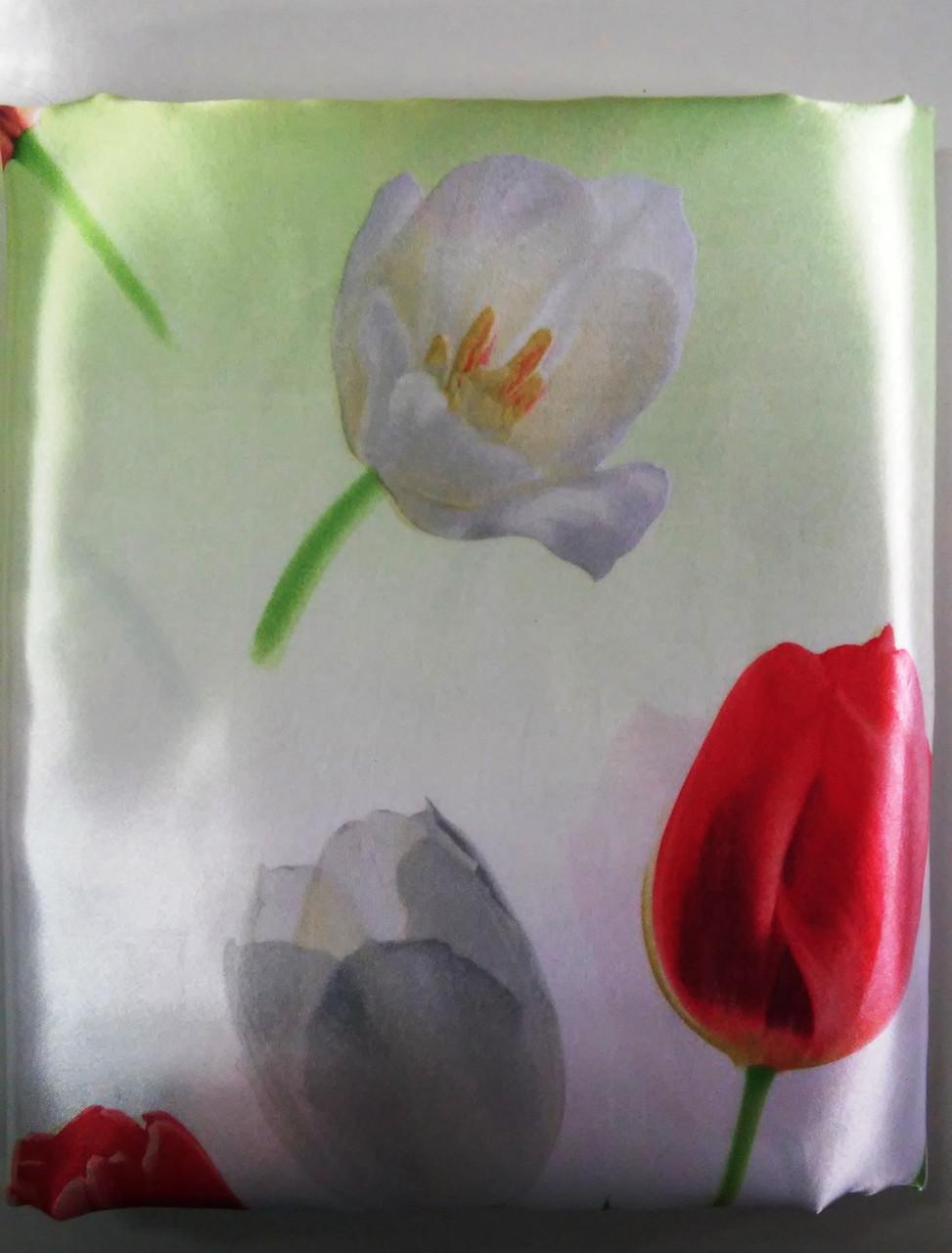 Пододеяльник 200х220 из Шелка Весенние Тюльпаны