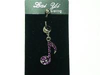 Пирсинг, Скрипичный ключ, фиолетовые стразы    17_1_129a3