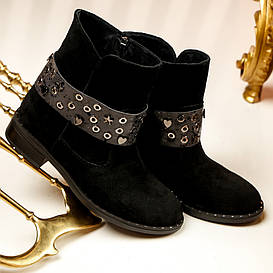 Ботинки женские  №222-замшевые (36-41)