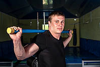Палка гимнастическая прорезиненая бодибар 3 кг