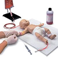 Тренажер для отработки катетеризации центральных вен ребенка.