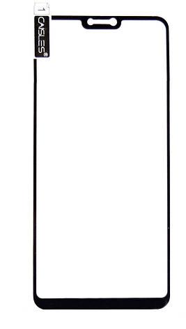 Захисне Скло Caisles 5D для Xiaomi Mi 8 Lite Гнучке На весь екран Чорні рамки, фото 2
