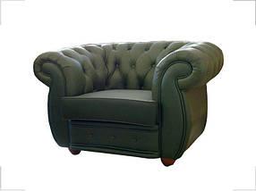 Кресло Cosmo-1S Кожа Люкс Комбинированная Зеленая (Диал ТМ)
