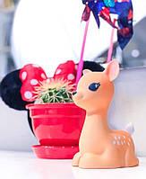 Детский светильник ночник-игрушка с таймером и 5 режимами подсветки Dhink Олененок, бежевый, фото 1