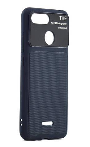 Чехол накладка для Xiaomi Redmi 6 Glossy Half TPU Синий, фото 2