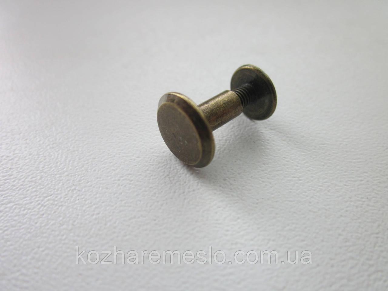 Винт ременной 10 х 8 мм антик