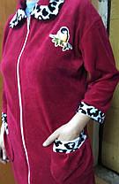 Велюровый халат большого размера, фото 3