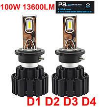 Светодиодная лампа P9 цоколь D1/D2/D3/D4 (D2S), CREE GSP 6000К, 13600 lm 50W, 9-36В