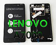 Дисплей модуль в сборе с рамкой Lenovo A7000 ОРИГИНАЛ Новый
