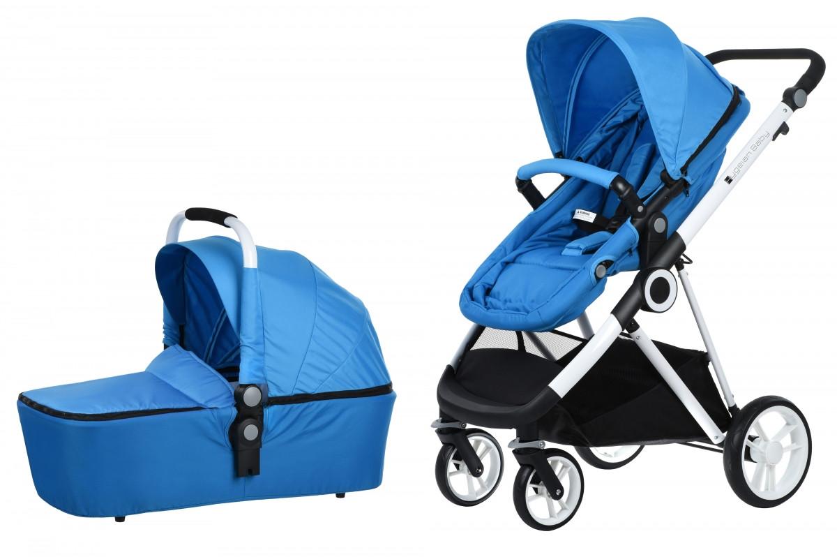 Коляска Miqilong Mi baby T900 2в1 синяя