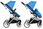 Коляска Miqilong Mi baby T900 2в1 синяя, фото 3