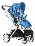 Коляска Miqilong 2в1 Mi baby T900 Navy Blue синяя, фото 9