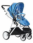 Коляска Miqilong Mi baby T900 2в1 синяя, фото 9