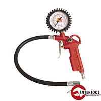 Пистолет для подкачки колес с манометром 63мм пневматический  INTERTOOL (PT-0504)