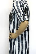 Рубашка в полоску женская удлиненная , фото 3