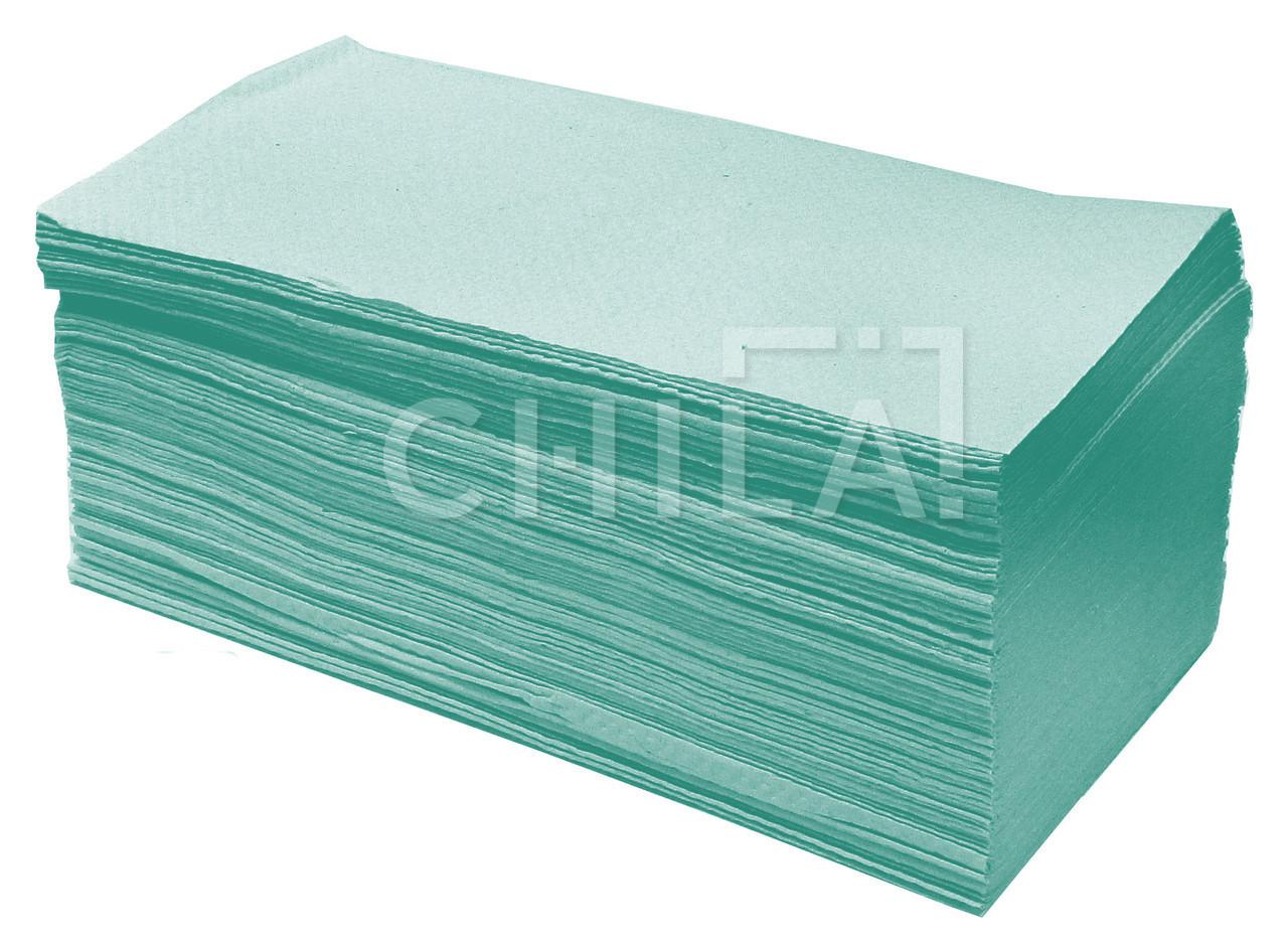 Полотенца бумажные зелёные V-складка (160 шт/уп)