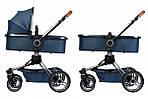 Коляска Miqilong V-Baby X159 синяя 2в1, фото 2