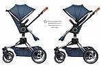 Коляска Miqilong V-Baby X159 синяя 2в1, фото 4