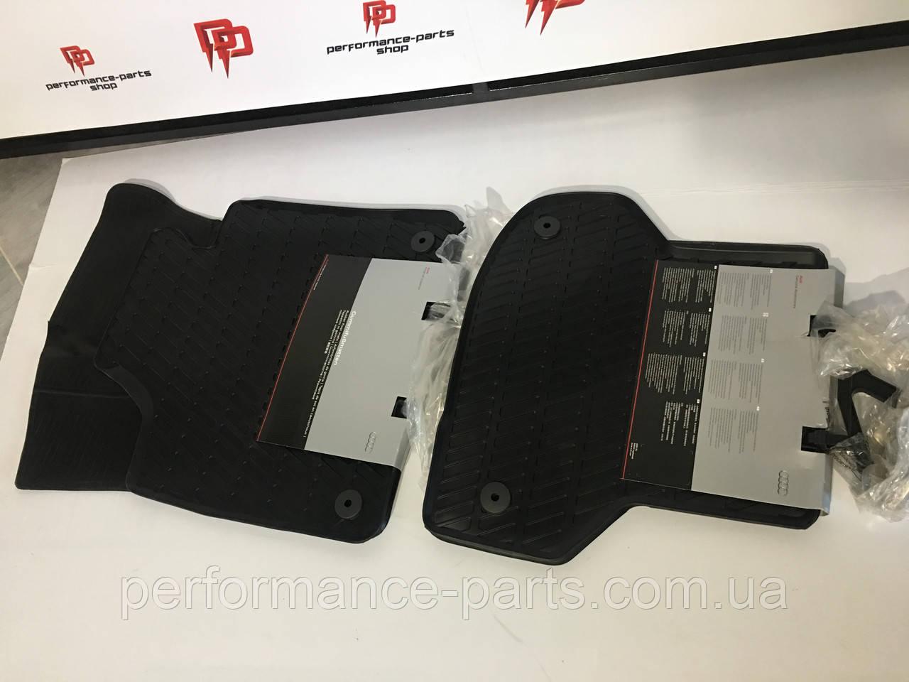 Коврики салона резиновые комплект Audi A3 2004-2013.Артикул 8P1061501041-8P0061511041. Оригинал.