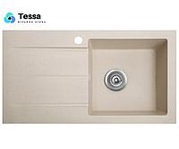Мойка кухонная гранитная Tessa Prima sahara 81005