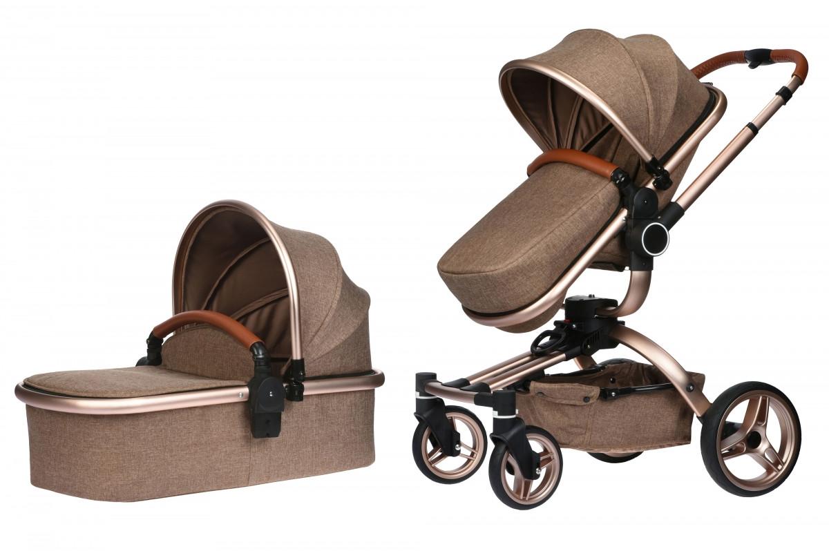 Коляска Miqilong V-Baby X159 бежева