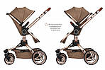 Коляска Miqilong V-Baby X159 бежева, фото 4