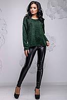 Темно-зеленый свитер из ангоры-травки 2738, фото 1