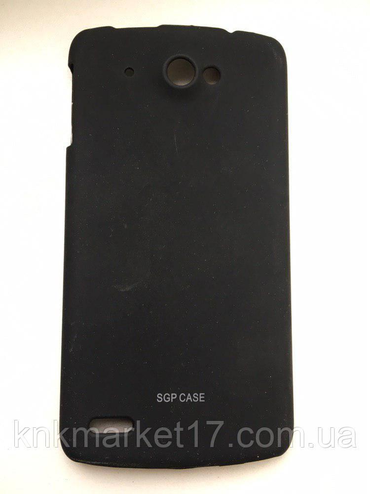 Пластиковая накладка Soft-Touch для Lenovo S920 Черная