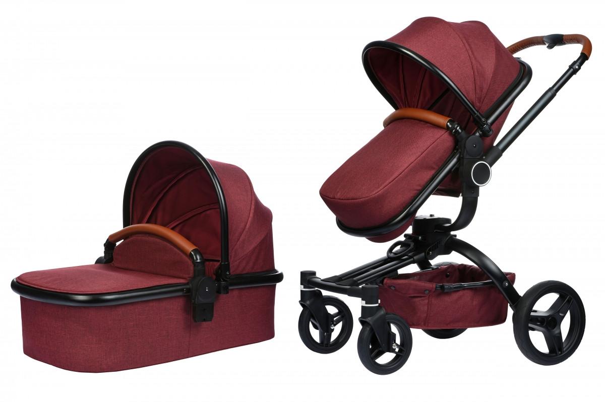 Коляска Miqilong V-Baby X159 2в1 Dark Red