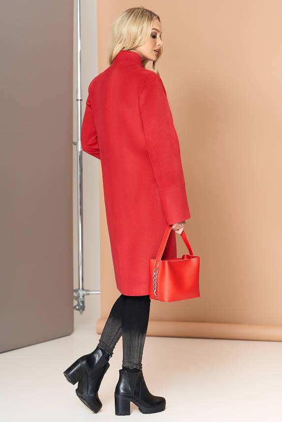 Красное кашемировое женское пальто демисезонное, фото 2