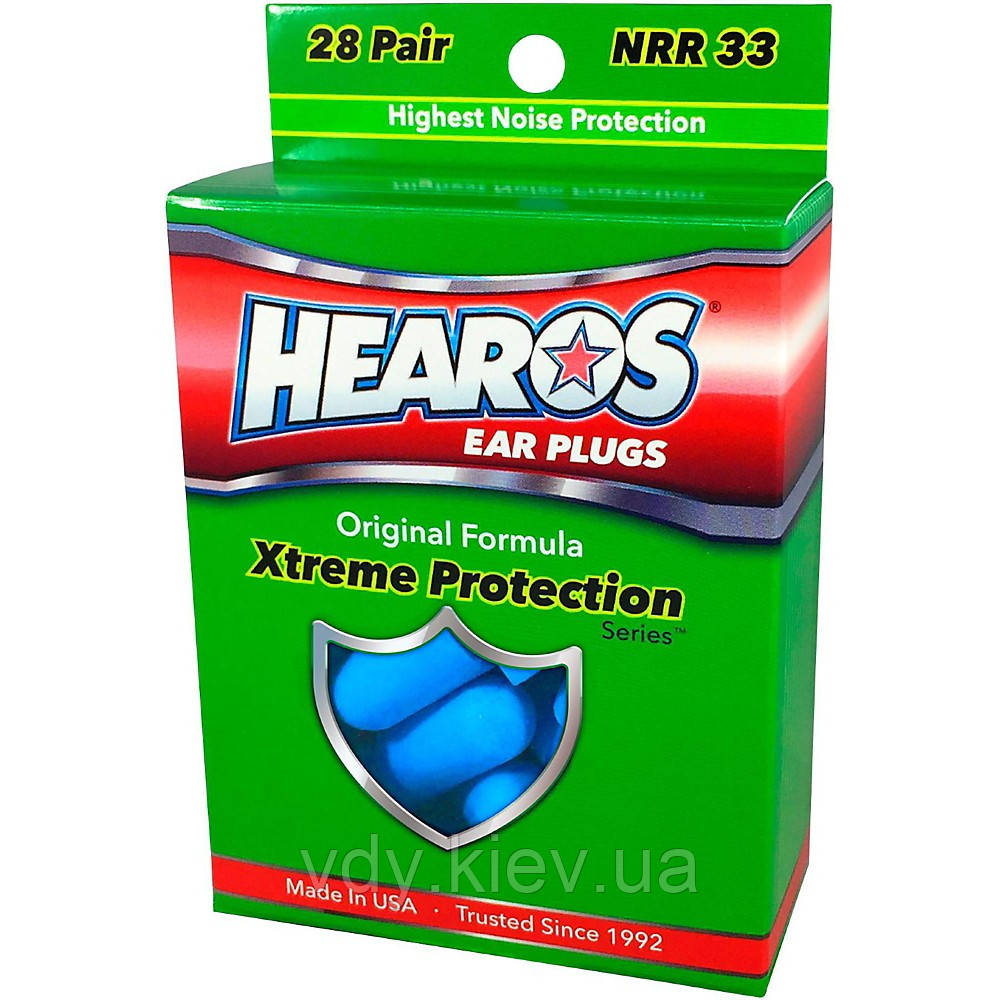 Беруши HEAROS XTREME PROTECTION NRR33 (28 пар)