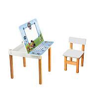 """Детский стол с мольбертом + стульчик """"Щенячий патруль"""""""