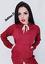 Женский спортивный костюм с худи из двухнитки 7so563, фото 6