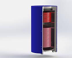 Аккумулирующий бак ЕА-11-350 с двумя теплообменниками