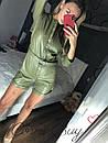 Женский кожаный комбез с шортами 56ks941, фото 2