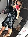 Женский кожаный комбез с шортами 56ks941, фото 3